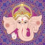 Hindu god Ganesha. Sing OM on his hand. Stock Photography