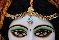 Hindu God & Goddess. A portrait of a decorated goddess Saraswati Stock Photo