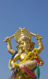 Hindu god, Gold Ganesh Statue Royalty Free Stock Images