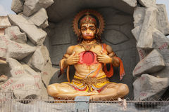 Hindu god Hanuman sculpture. In Rishikesh, India, 2011 Stock Photos