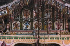 Hindu God Illustration Near Bell Royalty Free Stock Image