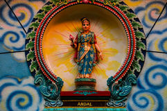 Hindu God in Indian Temple Stock Photo