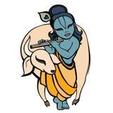 Hindu God Krishna. Vector hand drawn illustration Royalty Free Stock Images