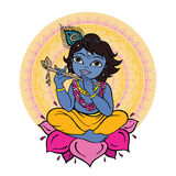 Hindu God Krishna. Royalty Free Stock Photo
