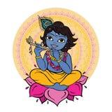 Hindu God Krishna. Royalty Free Stock Photo
