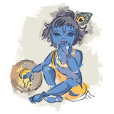 Hindu God Krishna. Stock Images