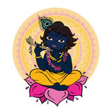 Hindu God Krishna. Stock Photography