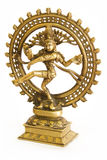 Hindu god Shiva. From bronze on a white background Stock Photography