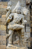 Hindu God Statue in Brihadeeswarar Temple Stock Image