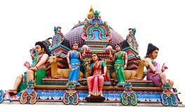 Hindu God Statues At A Hindu Temple in isolated Stock Photos