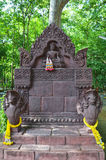 Hindu god at Wat Phra That Phanom Din   Surin Thailand Royalty Free Stock Image