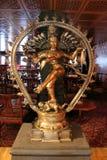 Hindu Goddess. Metal statue of hindu goddess inside a restaurant Royalty Free Stock Image