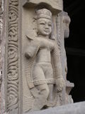 A Hindu Goddess adorning Shiva Temple in Kangra, India Royalty Free Stock Photos