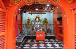 Hindu goddess Ganesha altar in the Temple in Pushkar, India. Hindu goddess Ganesha altar in the Temple in Pushkar, Rajasthan, India Stock Photos