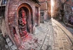 Hindu goddess in Kathmandu Royalty Free Stock Image