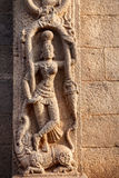 Hindu goddess on the wall in India Stock Photo