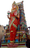 Hindu godess statue on a temple gopuram Stock Image
