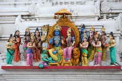 Hindu gods. Different Hindu gods sculpted on temple royalty free stock image