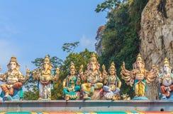 Hindu gods at Batu Caves temple Stock Image