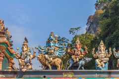 Hindu gods at Batu Caves temple Stock Images