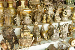 Hindu gods and Buddha statues Royalty Free Stock Photos