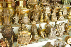 Hindu gods and Buddha statues Royalty Free Stock Photos