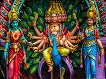 Hindu Gods. Colorful statues of Hindu Gods in Batu Caves in Gombak, Selangor, Malaysia stock images