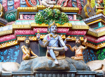 Hindu Gods colorful statues in India Royalty Free Stock Photography
