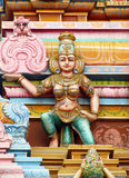 Hindu Gods colorful statues in India Royalty Free Stock Images