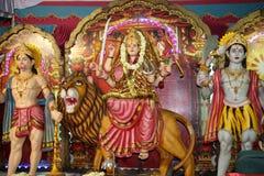 Hindu gods and goddess. Hindu deities at a Hindu temple Royalty Free Stock Photos