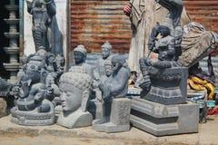 Hindu gods Idols ready to sell, Mahabalipuram, India Stock Photo