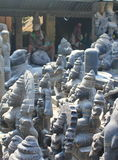 Hindu gods Idols ready to sell, Mahabalipuram, India. In the picture, we can see the idols of Hindu gods and goddesses that are ready to sell in Mahbalipuram, a royalty free stock photos