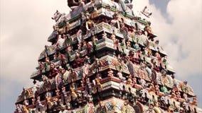 Hindu Gods at the modern Hindu Temple. Hindu Gods at the modern Hindu Temple stock footage