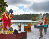 Hindu gods statue at Grand Bassin - hindu temples of Mauritius Stock Photography