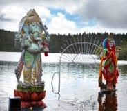 Hindu gods statue at Grand Bassin - hindu temples of Mauritius Royalty Free Stock Photography
