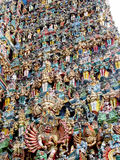 Hindu gods statues on gopuram Royalty Free Stock Image