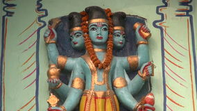 Hindu gods in Varanasi temple, India Stock Photo