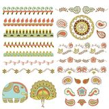 HIndu handmade ornament set Stock Photo