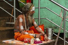 Hindu holy man in a Gag of the Ganges.