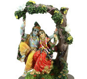 Hindu illustration of Radha-Krishna signifying lo Stock Image