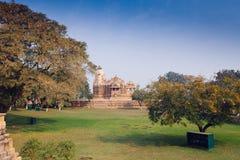 Hindu and Jain temples in Khajuraho. Madhya Pradesh, India. Stock Photos