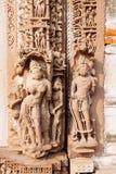 Hindu and Jain temples in Khajuraho. Madhya Pradesh, India. Stock Images