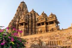 Hindu jain temples at Khajurao India Royalty Free Stock Photos