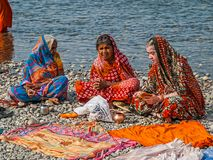 Hindu ladies at Kumbh Mela Stock Images