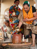 Hindu Ladies Worshipping SHiva Stock Images