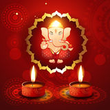 Hindu lord ganesh illustraton Stock Image