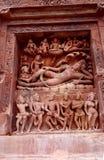 Hindu lord Vishnu lying on serpant Sheshnaga Stock Photo