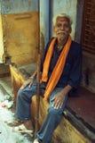 Hindu Man. In the old city in Varanasi, India Stock Images