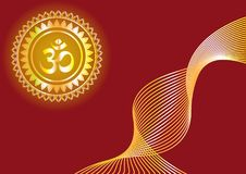 Hindu mantra writing `Shree` and `Aum` or `Om`  design Stock Photography