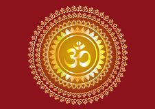 Hindu mantra writing `Shree` and `Aum` or `Om`  design Royalty Free Stock Photos